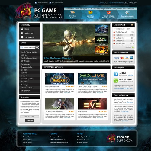 Guaranteed Contest: PC Game Web Site