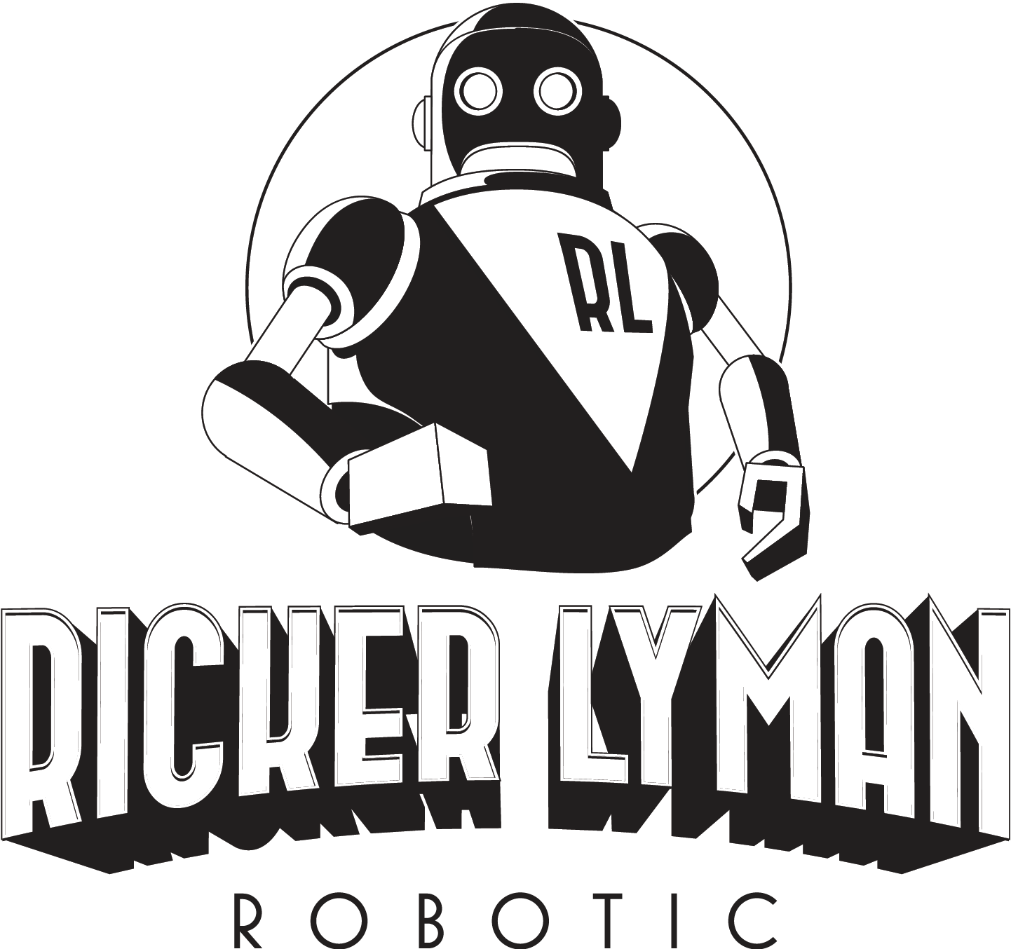 Ricker Lyman Robotic needs a retro Atomic Age logo