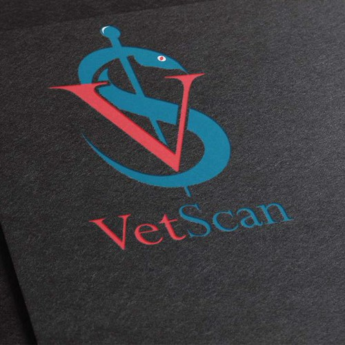 Create a variation of a classic veterinary symbol
