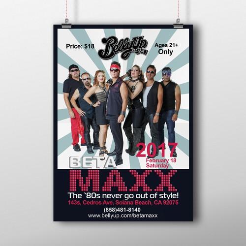BETAMAXX Concert Poster