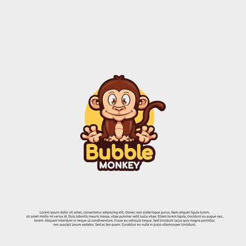logo concept for bubble monkey