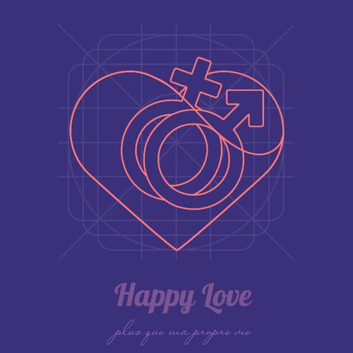 Happy Love iOS icon.