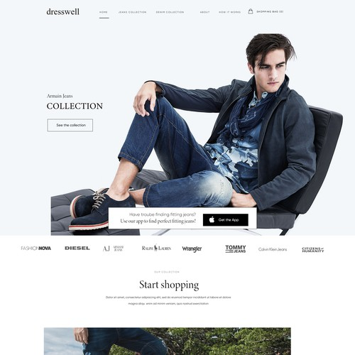 Dresswell iphone app website