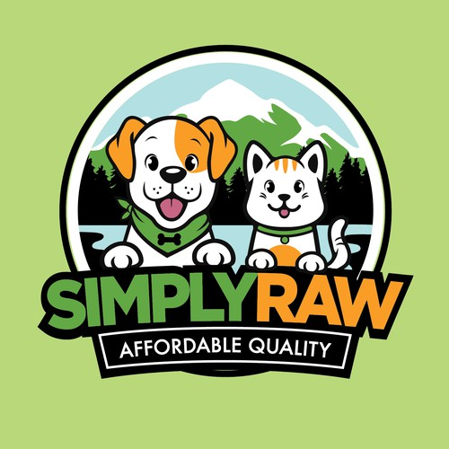 Create an catchy logo for a new Raw Pet food brand in NZ