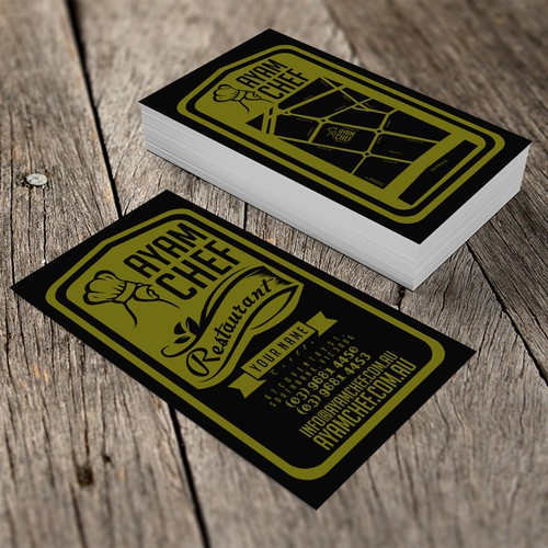 Design an Attractive Business Card for AYAM CHEF