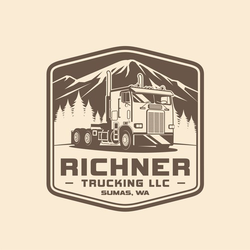 Big Rig Transportation Logo design