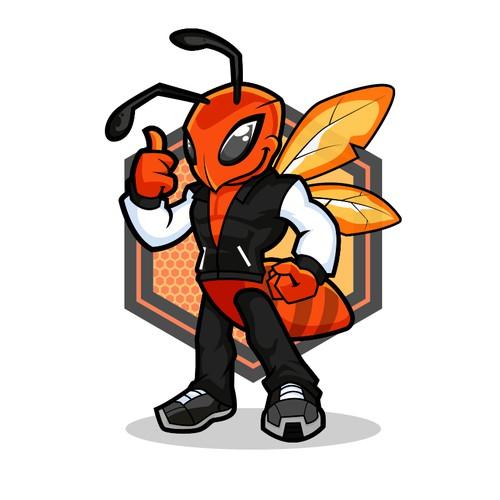 Orange Hornet Mascot