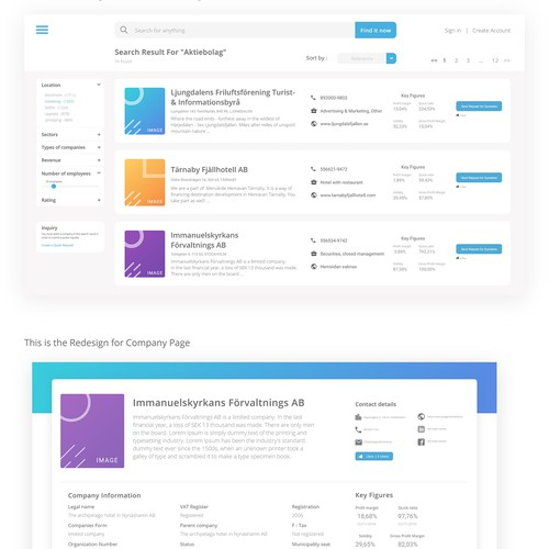 Redesign Web Page