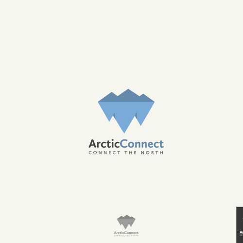 Create a professional and clean logo for an exciting online platform about Arctic