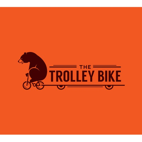 Awesome Logo For The Trolley Bike That Kicks Ass