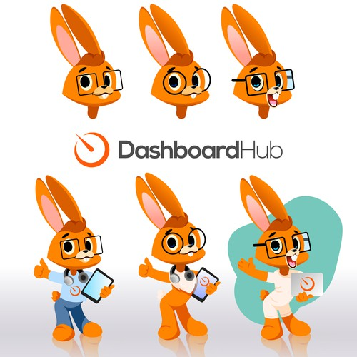 Cute geeky fun rabbit