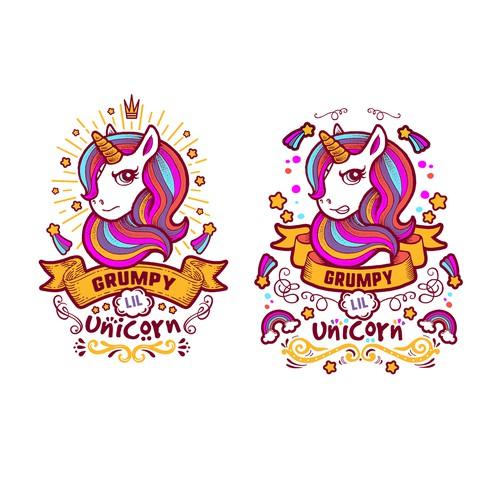 Grumpy Lil Unicorn