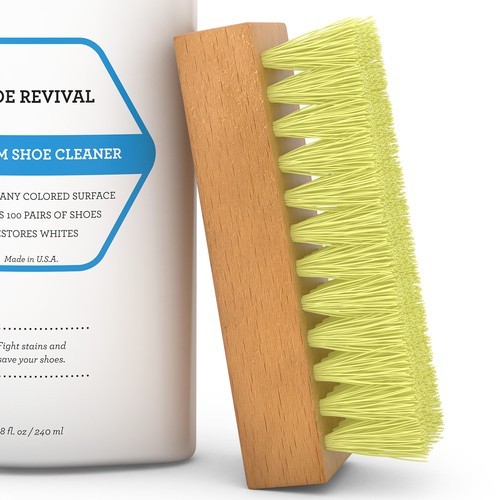 Shoe Cleaner with Brush 3D Rendering