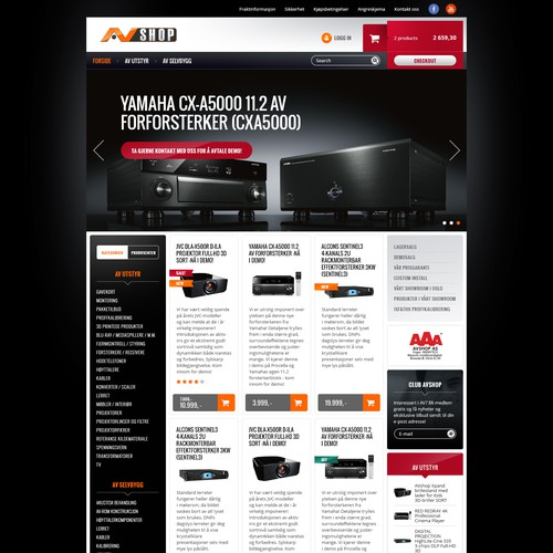 Create a new cinematic look for Norway´s top Audio and Video Internet Store!
