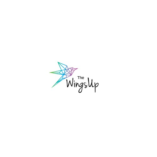 Line concept logo for thewingsUP
