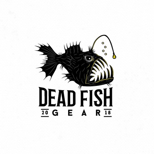 Edgy logo for fishing gear company.