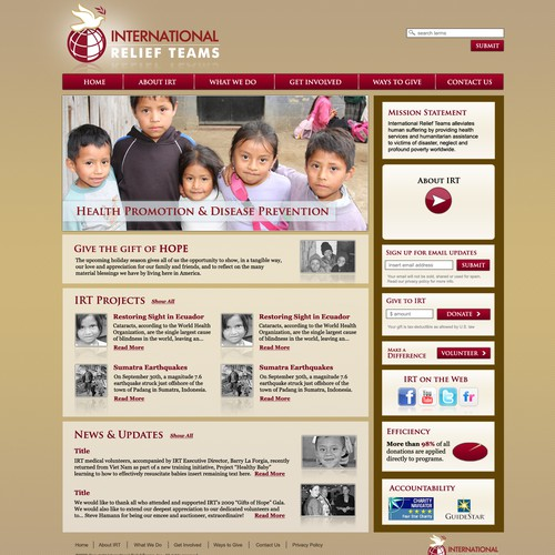 Website design & logo refresh for an intl. charity organization