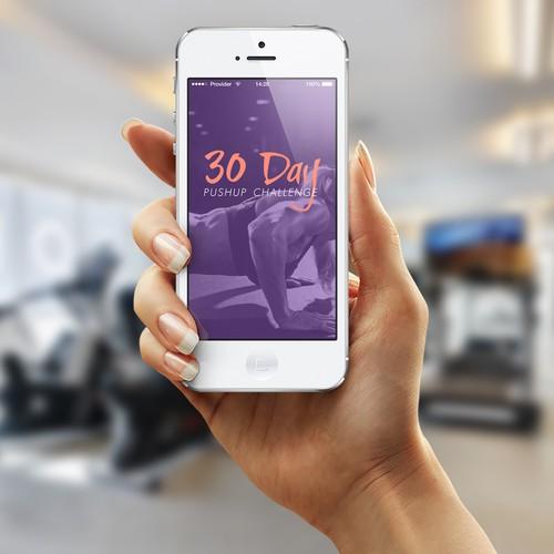 Sleek, clean, re-skinnable design needed for fitness apps!
