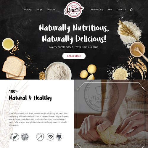 Website design for bread company