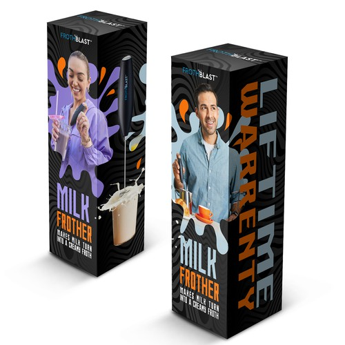 """BOX design for MILK FROTHER product"""""""
