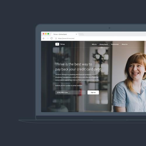 Thrive Banking Landing Page