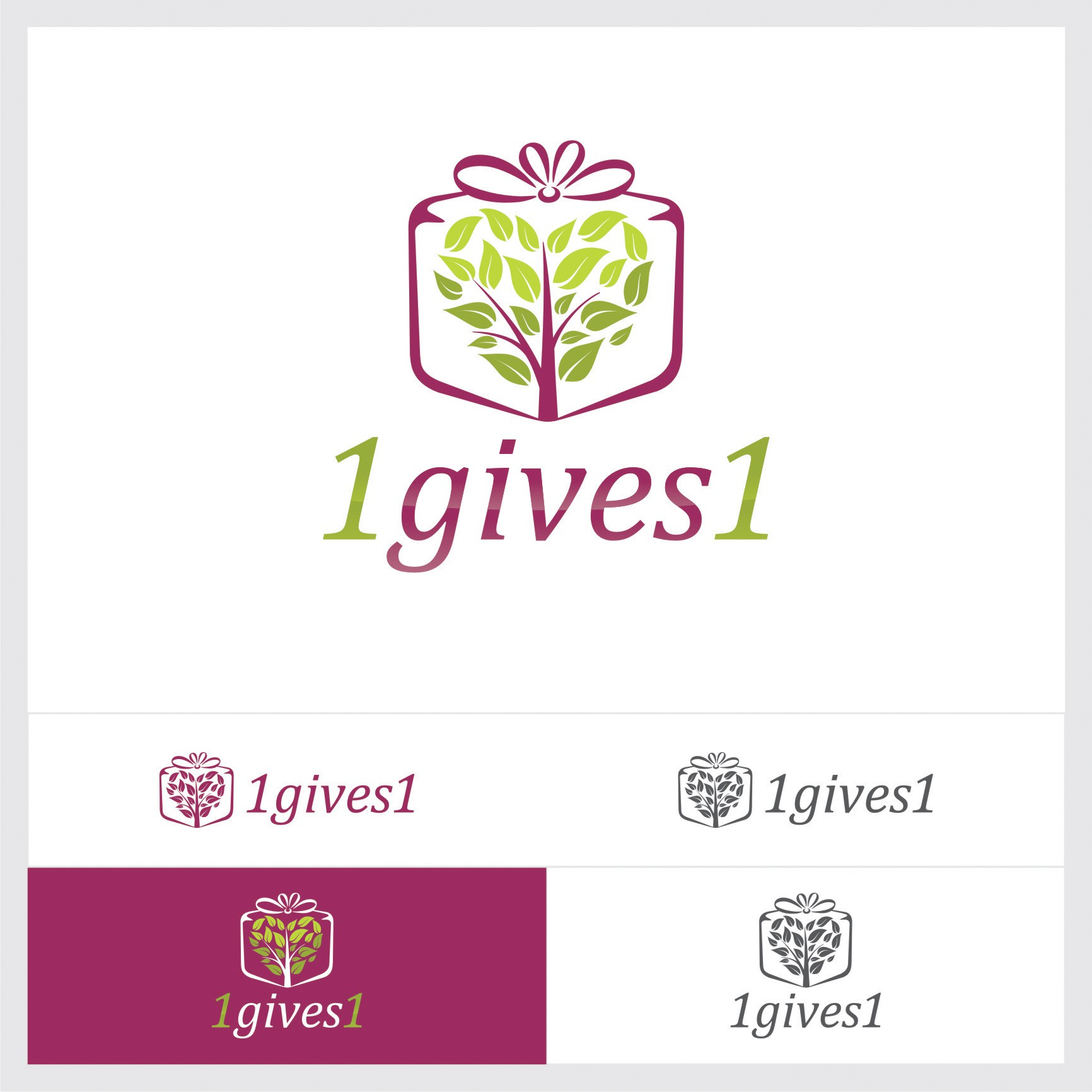 1gives1 wants to use your logo design to help families be healthier - make a difference today!