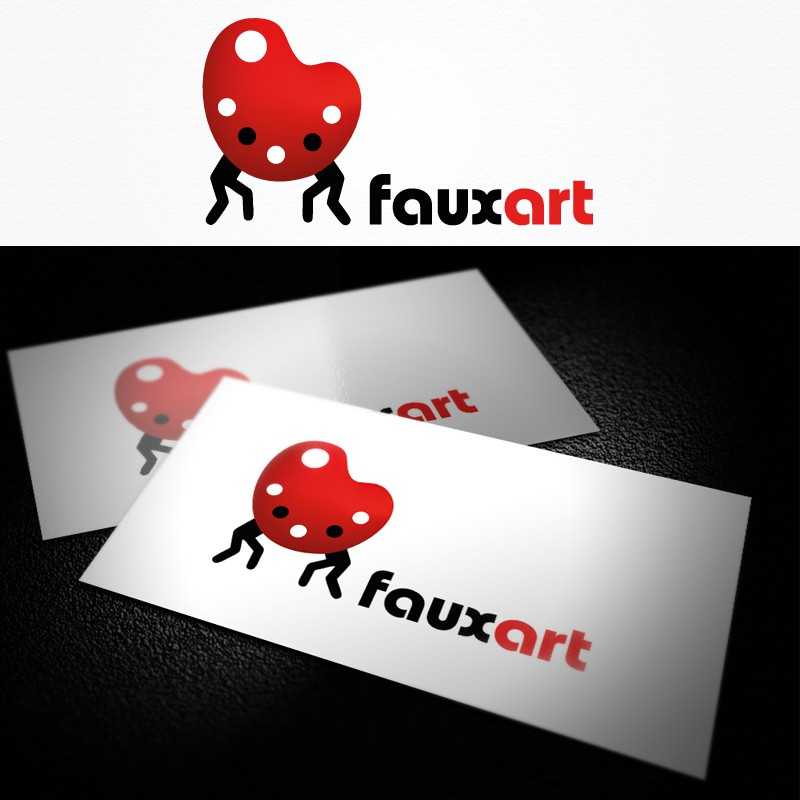 Create the next logo for faux art