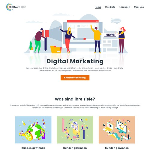 homepage - web agency