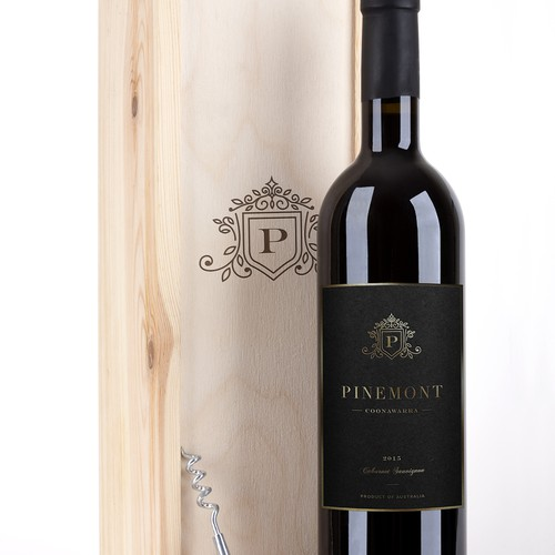 luxury wine label
