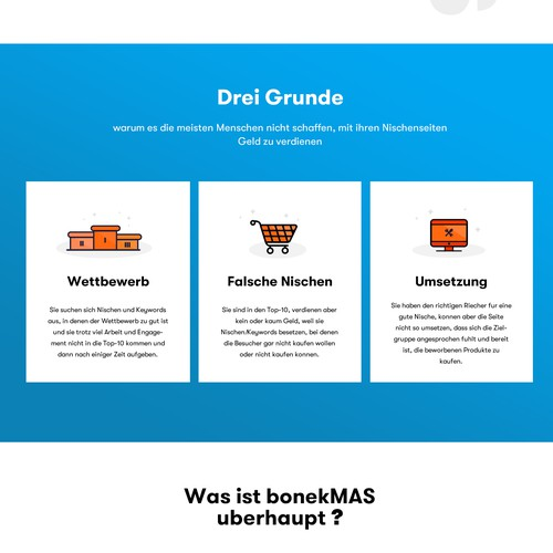 Landingpage for Online-Course