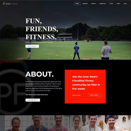 Pride Fitness - Weebly Site
