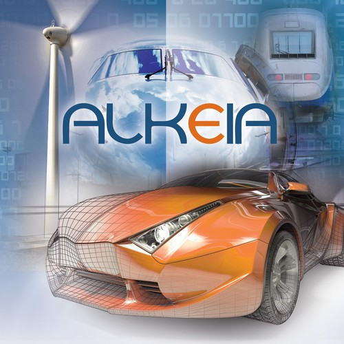 Create a brochure with a great technical and innovative (high tech) look for the 1st network computing company ALKEIA