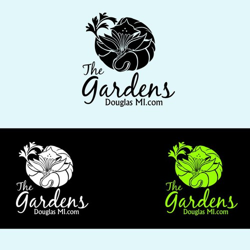 Vacation Rental Logo - Beach, Gardens, Fun, Relaxation, Luxury