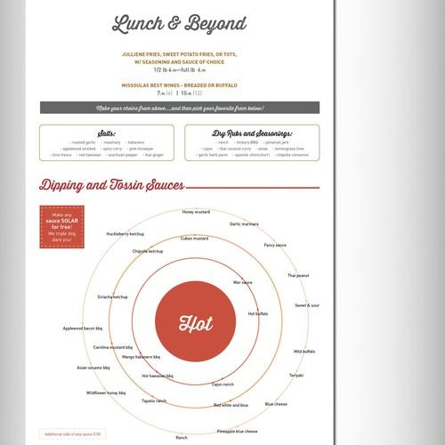 Liquid planet menu