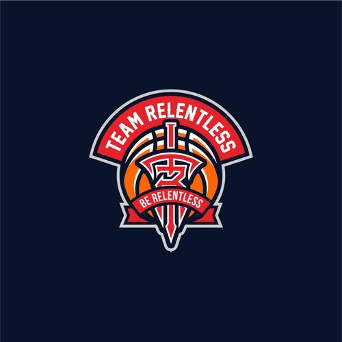 Basketball monogram logo