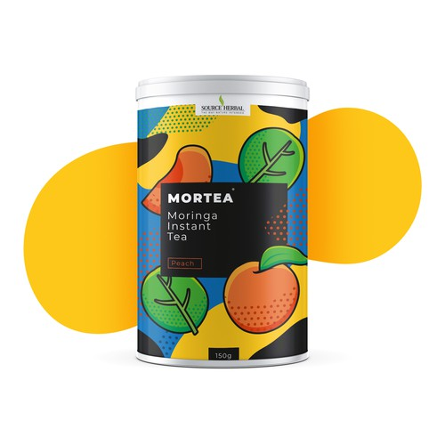 Tea can with a touch of pop art vibe