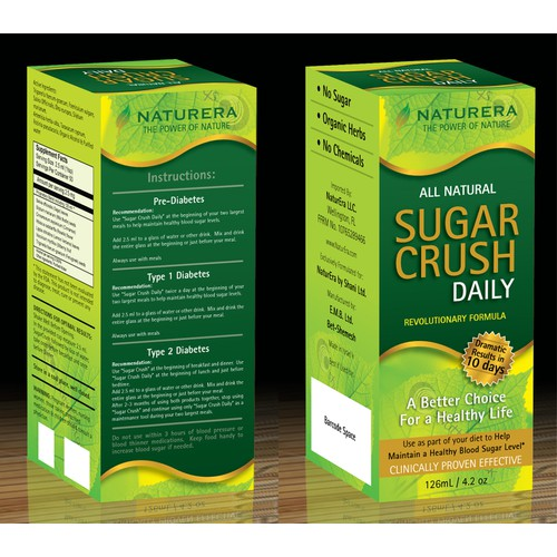 Looking For a Great New Product Package Design for Sugar Crush