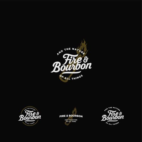 fire and bourbon logo