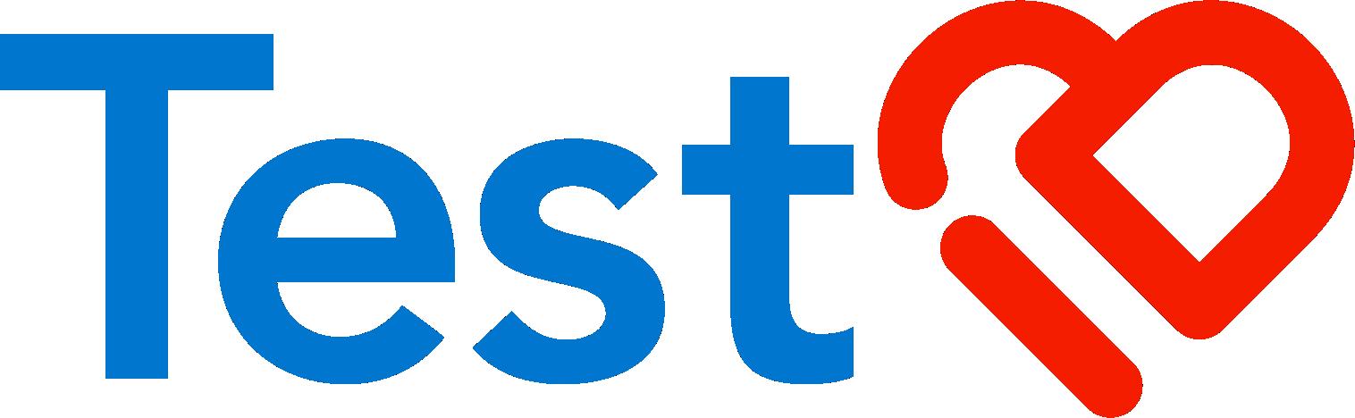 Modern logo for medical testing app
