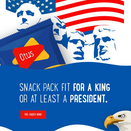 otus snack, shot from the landing page