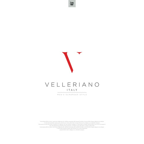 Logo for a high end Italian clothing store