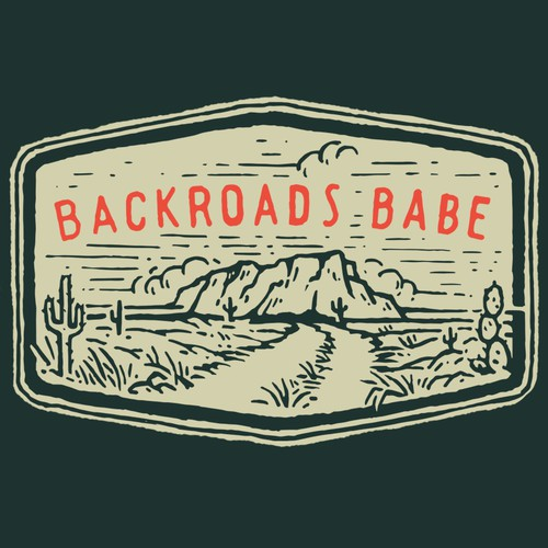 Simple T-Shirt Design BACKROADS BABE