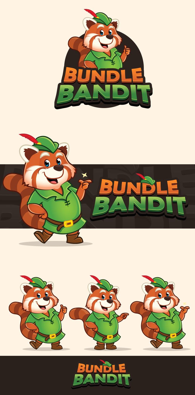 Logo and Mascot for BundleBandit.com
