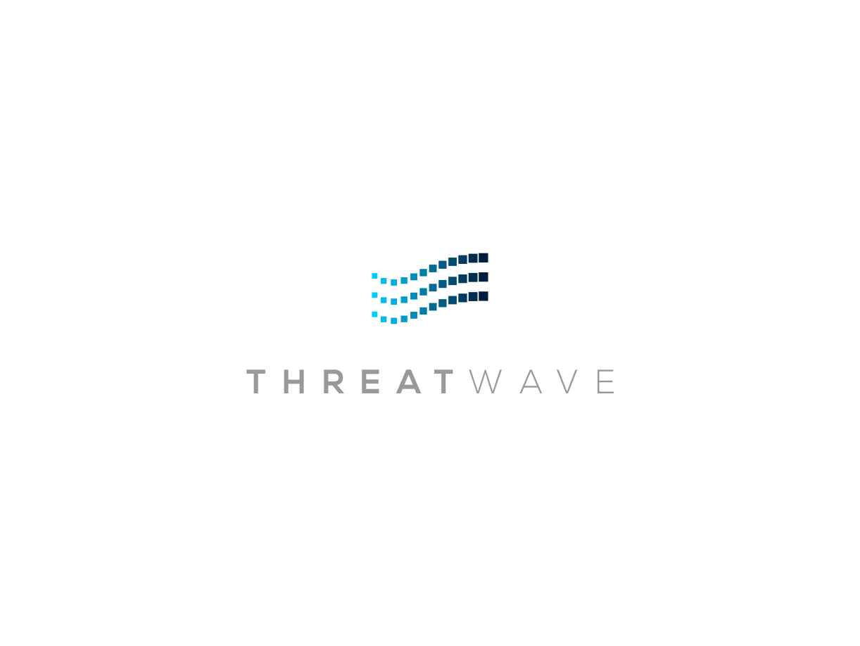 Create a captivating logo for cyber security data company ThreatWave