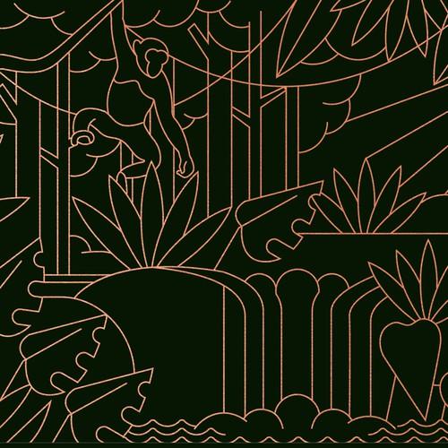 丛林场面信封图