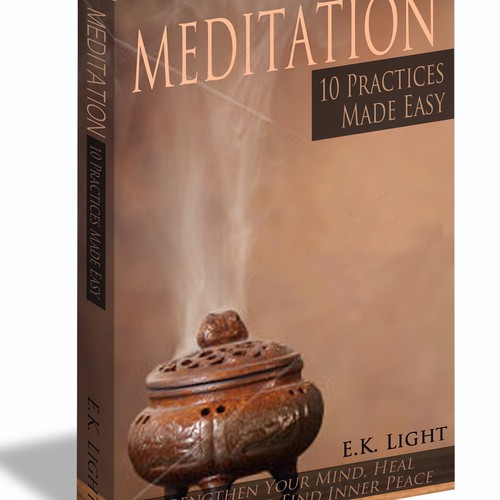 Help me design a cover for a meditation book and ebook.