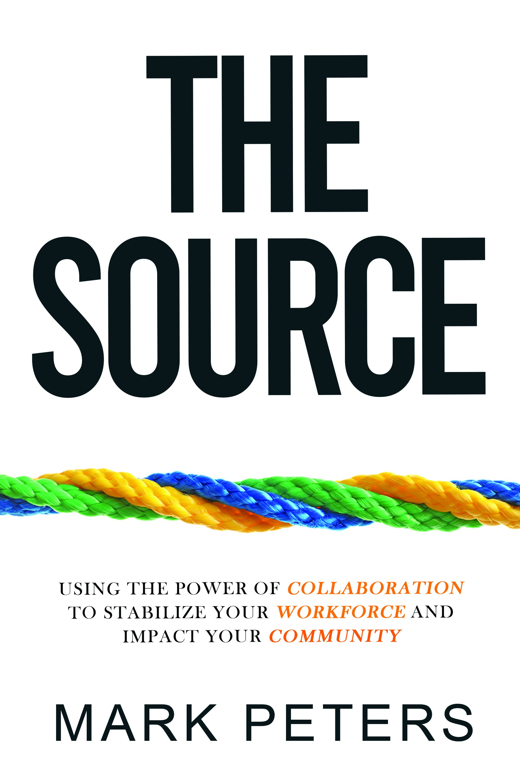 Design a cover for a book about how companies can help employees through collaboration