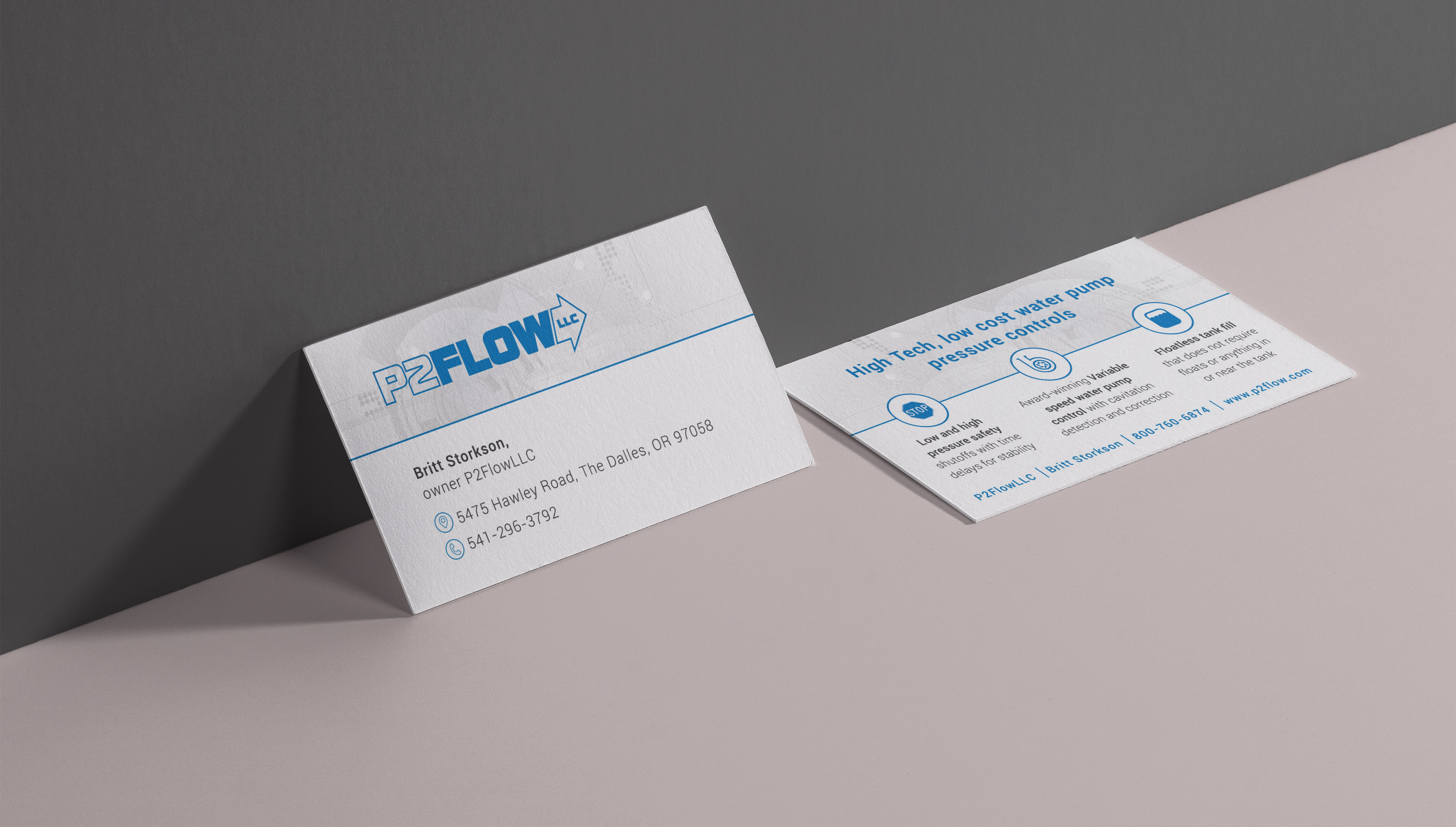 P2FlowLLC Business Card