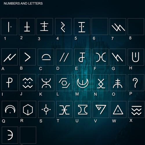 Custom font for a German electro artist