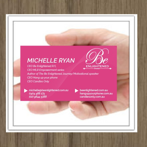 beautiful business card with wow factor